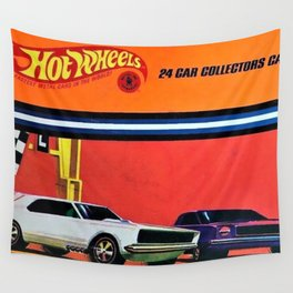 Vintage 1970 Hot Wheels Redline Collector Case Poster Wall Tapestry