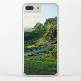 The Quiraing in Isle of Skye, Scotland Clear iPhone Case