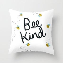 Bee Kind Throw Pillow