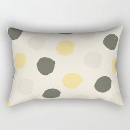 Hand Drawn Polka Dot Pattern Rectangular Pillow
