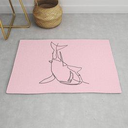 Great White Shark (pink) Rug