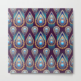 Decorative Abstract Oriental Pattern Metal Print