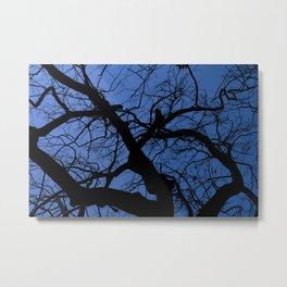 Tree silhouette Metal Print