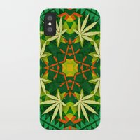 cannabis iPhone & iPod Cases featuring Tribal Cannabis by GypsYonic