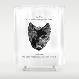 The Wolf and The Raven Shower Curtain