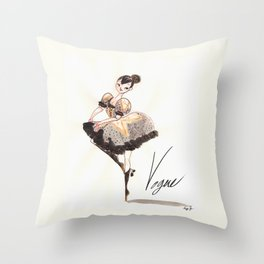 Vogue Ballerina! Throw Pillow
