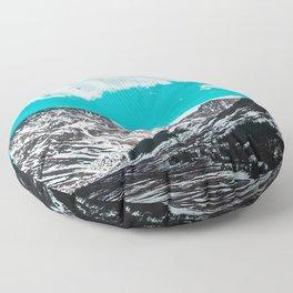 mountains clouds sky snowy porous Floor Pillow
