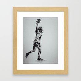 Football Player Framed Art Print