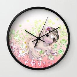 Flower Filly Wall Clock