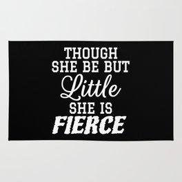 Little & Fierce (Black & White) Rug