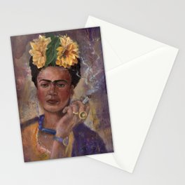 Frida Kahlo Take No Prisoners While Smoking Stationery Cards