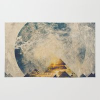 mountains Area & Throw Rugs featuring One mountain at a time by HappyMelvin