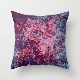 Bidin - Abstract Bohemian Camouflage Tie-Dye Style Art Throw Pillow