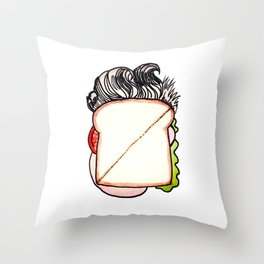 David Lunch Throw Pillow