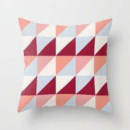 Trio (maroon) Throw Pillow