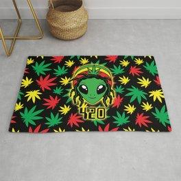 Rasta 420 Alien Rug