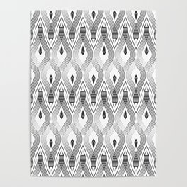 Art Deco 56 . black and gray spiral . Poster