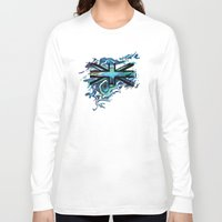 union jack Long Sleeve T-shirts featuring Union Jack by Boz Designs