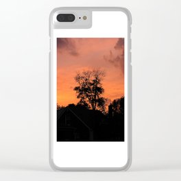 Treee on Fire Clear iPhone Case