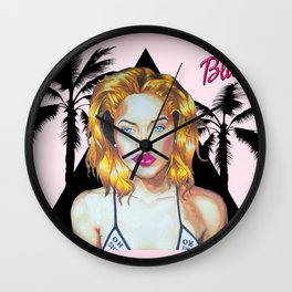 Golden Barbie Wall Clock