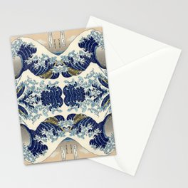 The Great Wave off Kanagawa Symmetry Stationery Cards