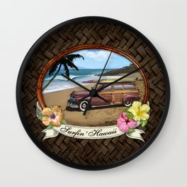 Surfin' Hawaii Wall Clock