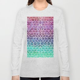 Watercolor Mermaid Alexandrite Long Sleeve T-shirt