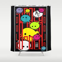 comic Shower Curtains featuring COMIC  by _Moj_