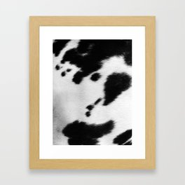 Black and white cowhide Framed Art Print