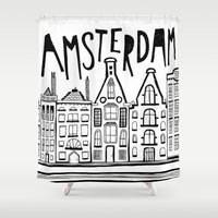 amsterdam Shower Curtains featuring Amsterdam by Heather Dutton