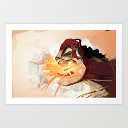 Borderlands - MR TORGUE FLEXINGTON!!!!! Art Print