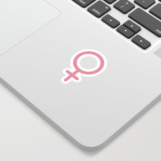 Female Gender Symbol Sticker - Colour by dollny