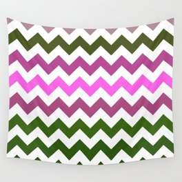 Pink Roses in Anzures 1 Chevron 1 Wall Tapestry