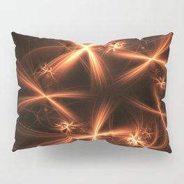 Orange abstract fractal as firework. Holiday theme. Pillow Sham