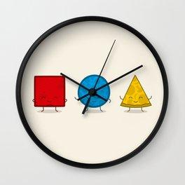 Bauhaus Pizza - Cute Doodles Wall Clock