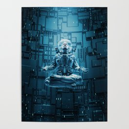 Astro Lotus Poster
