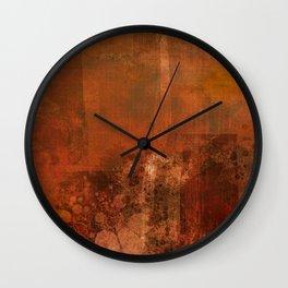 Organic rust Wall Clock
