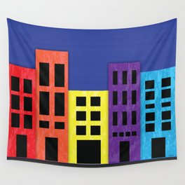 Brilliant Buildings Wall Tapestry