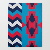 navajo Canvas Prints featuring Navajo by RamonaRode