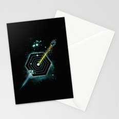 Space and Time Fragmentation Ship Stationery Cards