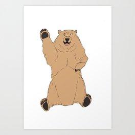 Waving Bear Art Print