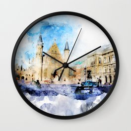 sketch the Hague 2 Wall Clock
