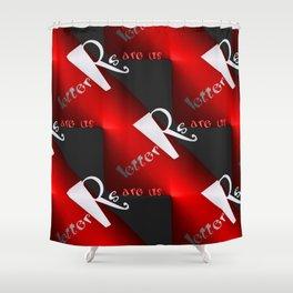 R - pattern again, 1 Shower Curtain