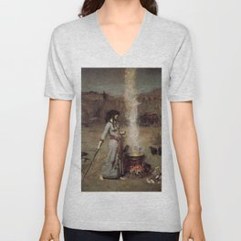 The Magic Circle, John William Waterhouse Unisex V-Neck