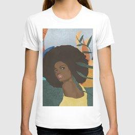 Afro lady #art print#society6 T-shirt