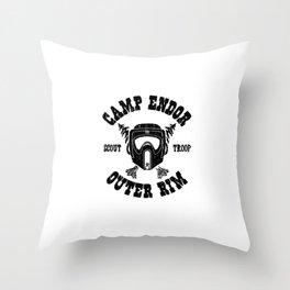 Camp Endor Throw Pillow