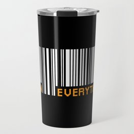 Scan Everything Amazonian Barcode - Party Code Travel Mug