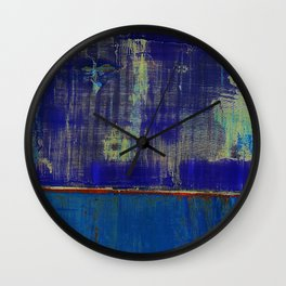 Simon Carter Painting I Wish We Had Never Got Here Wall Clock