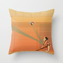 HQ!!: The Hero's The Libero Throw Pillow