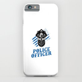 Retired Police Officer Retirement Policeman Gift iPhone Case